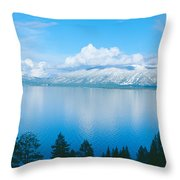 South Lake Tahoe In Winter, California Throw Pillow