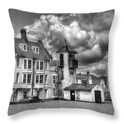 South Lookout Tower Aldeburgh Black And White Throw Pillow