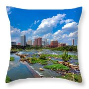 South Of The Rivah Throw Pillow