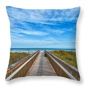 South Padre Island Walkway Throw Pillow