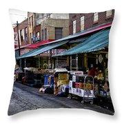 South Philly Italian Market Throw Pillow