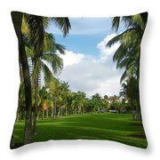 South Pointe Park Field Throw Pillow