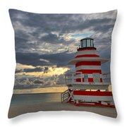 South Pointe Park Lighthouse Throw Pillow