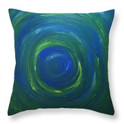 South Pole Of Saturn Throw Pillow