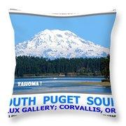 South Puget Sound Throw Pillow