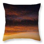 South Rim Grand Canyon Dramatic Clouds Sunset With Silhouetted R Throw Pillow