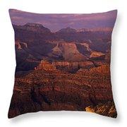 South Rim Grand Canyon Taken Near Yavapai Point Sunset Light On  Throw Pillow