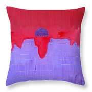 South Rim Sun Original Painting Throw Pillow