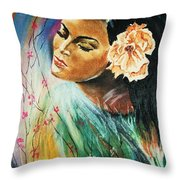 South Sea Flower Throw Pillow