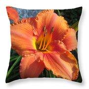 South Seas Daylily Throw Pillow