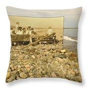 South Shore Beach In Little Compton Rhode Island Throw Pillow