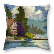 South Shore Big Bear Lake Throw Pillow