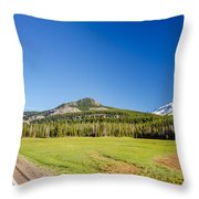South Sister And Highway Throw Pillow