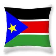 South Sudan Flag Throw Pillow