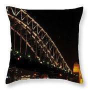 South Sydney Harbour Bridge Throw Pillow