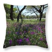 South Texas Meadow Throw Pillow