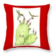 South Texas Nopales For Breakfast Throw Pillow