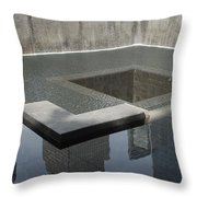 South Tower Pool Throw Pillow