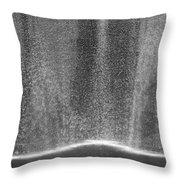 South Tower Rain In Black And White Throw Pillow