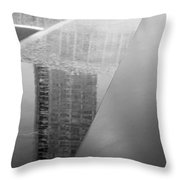 South Tower Reflections In Black And White Throw Pillow