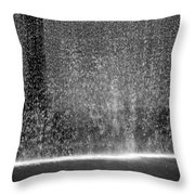 South Tower Water In Black And White Throw Pillow