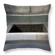 South Tower Waters Throw Pillow