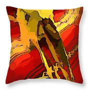 South Western Style Art With A Canadian Moose Skull  Throw Pillow