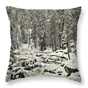 South Yuba River Throw Pillow