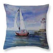 Southampton Wind Throw Pillow