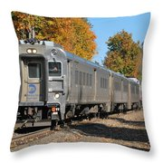 Southbound At Sloatsburg Throw Pillow
