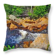 Southeast Brook Above Falls In Gros Morne Np-nl Throw Pillow