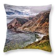 Souther California Coast Throw Pillow