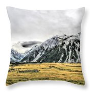 Southern Alps Nz Throw Pillow
