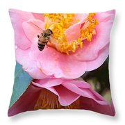 Southern Bee Throw Pillow