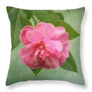Southern Camellia Flower Throw Pillow