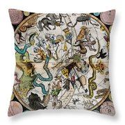 Southern Celestial Planisphere 1790 Throw Pillow
