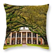 Southern Class Painted Throw Pillow by Steve Harrington
