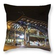 Southern Cross Rail Station In Melbourne Australia Throw Pillow