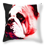 Southern Dawg By Sharon Cummings Throw Pillow by Sharon Cummings
