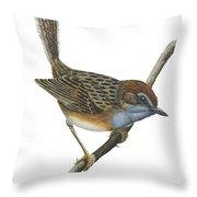 Southern Emu Wren Throw Pillow