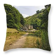 Southern End Of Wolfscote Dale Throw Pillow