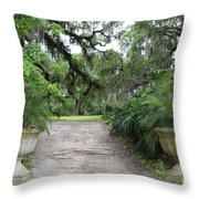 Southern Garden Welcome Throw Pillow
