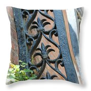 Southern Ironwork Throw Pillow