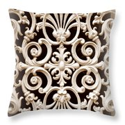 Southern Ironwork In Sepia Throw Pillow