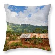 Southern Kenya Poverty Landscape Throw Pillow