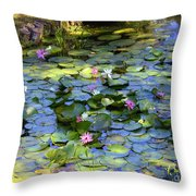 Southern Lily Pond Throw Pillow