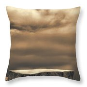 Southern Ocean In Black And White Throw Pillow