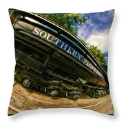 Southern Pacific 2472 Steam Engine 1921 Sunol Station Throw Pillow