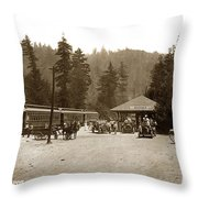Southern Pacific Depot At Brookdale Santa Cruz Co. Cal. Circa 1910 Throw Pillow