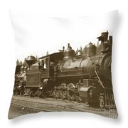 Southern Pacific Steam Locomotives No. 2847 2-8-0 1901 Throw Pillow
